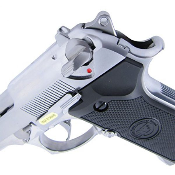 WE Airsoft Pistol 4 WE m92 gas/co2 blowback full metal - silver by we(Airsoft Gun)