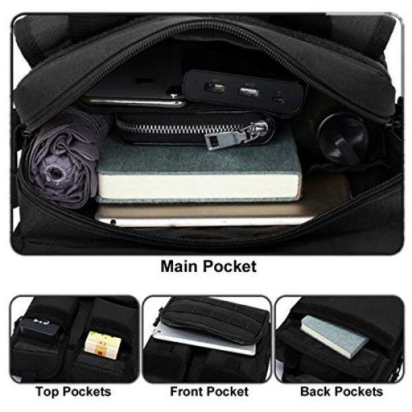 BraveHawk OUTDOORS Tactical Backpack 3 BraveHawk OUTDOORS Tactical Briefcase Messenger Bag, 800D Military Nylon Oxford Laptop Crossbody Shoulder Bag Handbag Daypack