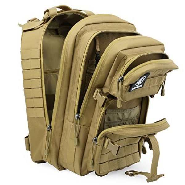 Barbarians Tactical Backpack 5 Barbarians Upgraded SBS Zipper Tactical Molle Backpack, 3 Day Assault Pack for Outdoor Hiking Camping Trekking Hunting 35L