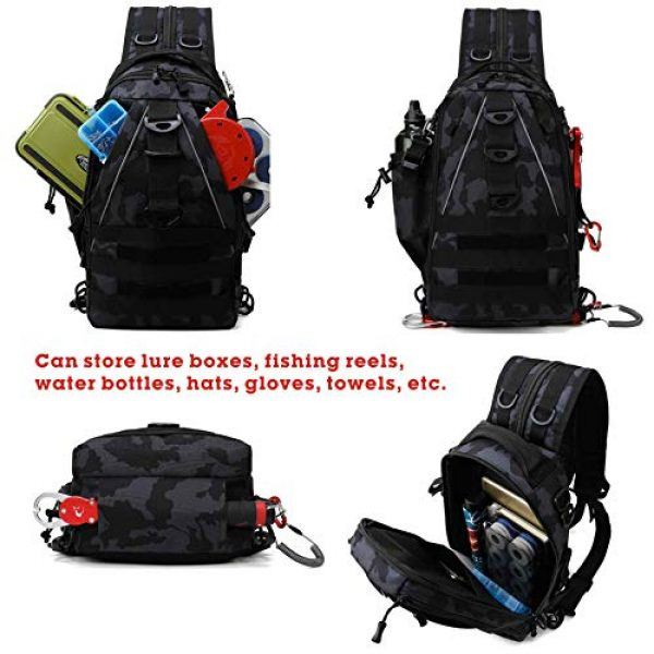 DOUN Tactical Backpack 3 DOUNto Tactical Sling Backpack, EDC Molle Sling Bag Military Daypack Backpack Outdoor Range Bags