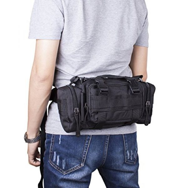G4Free Tactical Backpack 2 G4Free Fanny Deployment Bag Tactical Waist Pack Small Sling Pack Hand Carry Bag Handlebar Bag