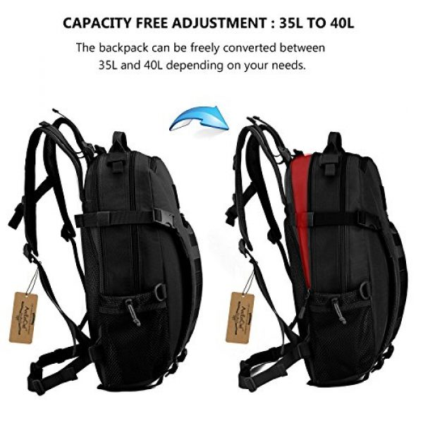 ArcEnCiel Tactical Backpack 4 ArcEnCiel Motorcycle Backpack Tactical Military Molle Gym Badminton Bag with Patch - Rain Cover Included
