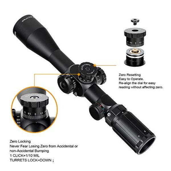 ohhunt Rifle Scope 5 ohhunt FFP 4-14X44 SFIR First Focal Plane Riflescope RG Illuminated Scope with Mount