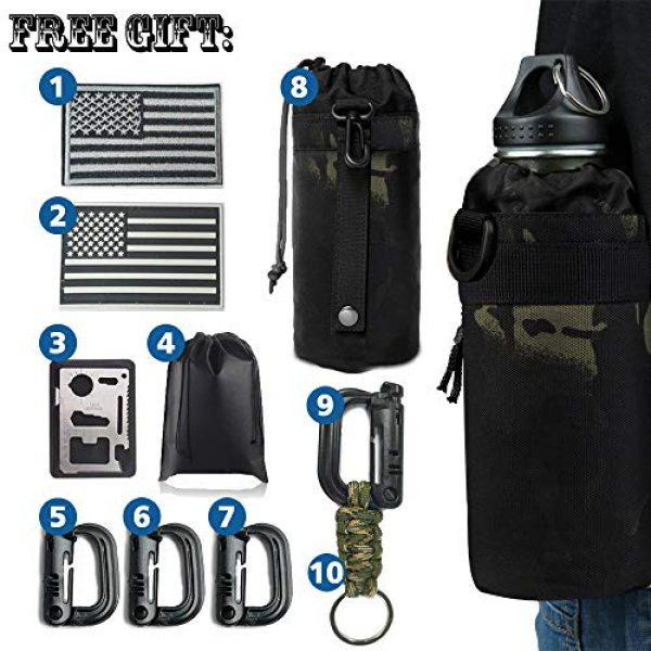 Monoki Tactical Backpack 6 Monoki Military Tactical Backpack, Army 3 Day Assault Pack,42L Molle Bag Rucksack