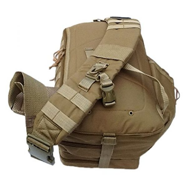 "Nexpak Tactical Backpack 5 18"" 1200cu. in. Tactical Sling Shoulder Hiking Backpack TL318 TAN"