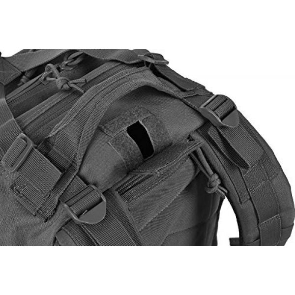 REEBOW GEAR Tactical Backpack 6 REEBOW G Military Tactical Backpack,Small Molle Assault Pack Army Bug Bag Backpacks Rucksack Daypack with Tactical US Flag Patch Black