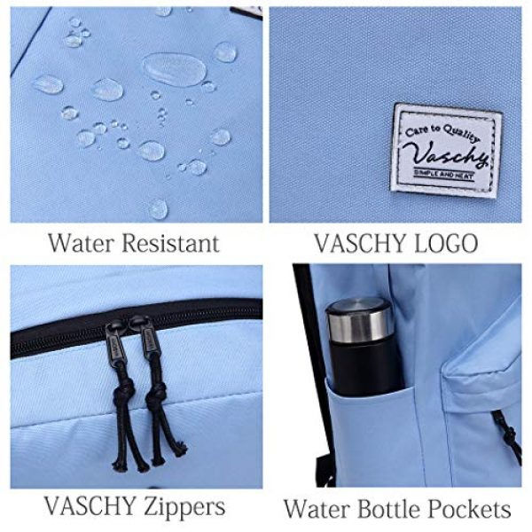 VASCHY Tactical Backpack 4 Lightweight Backpack for School, VASCHY Classic Basic Water Resistant Casual Daypack for Travel with Bottle Side Pockets
