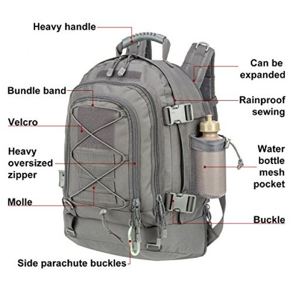 ARMYCAMO Tactical Backpack 4 Outdoor 3 Day Expandable 40-64L Backpack Military Tactical Hiking Bug Out Bag