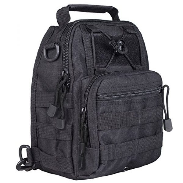Prospo Tactical Backpack 2 Prospo Tactical Sling Bag Pack Military Molle EDC Chest One Strap Daypack Outdoor Black New