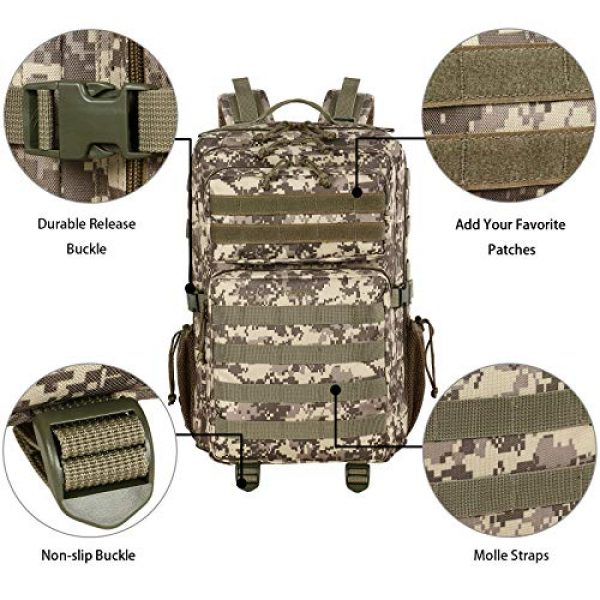 YOREPEK Tactical Backpack 6 Military Tactical Backpack 42L Large Army Rucksack 3 Day Assualt Pack Molle Bag