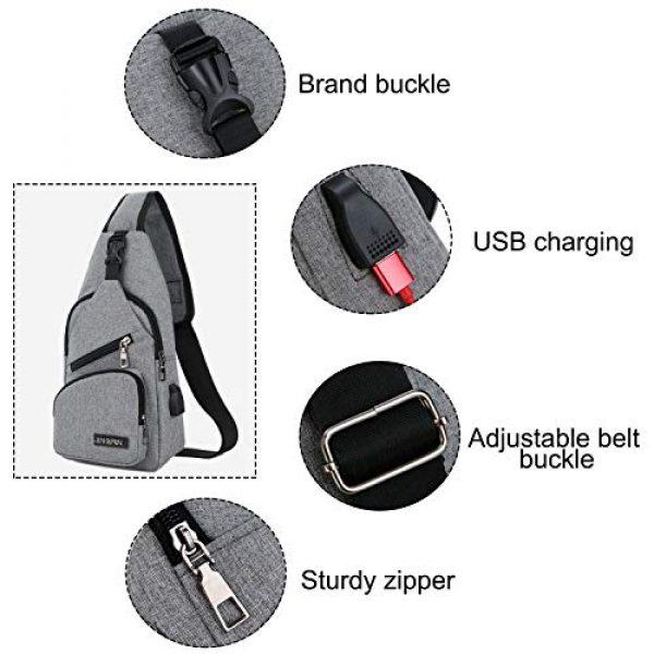 ChangYou Tactical Backpack 5 ChangYou Sling Bag Chest Backpack with USB Charging Port Polyester Shoulder Bag for Outdoor Sports Travel