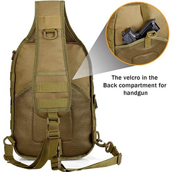 G4Free Tactical Backpack 4 G4Free Tactical Sling Backpack Big Molle EDC Assault Range Bag Pack Military Style for Concealed Carry
