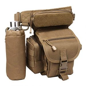 Eshow Tactical Backpack 1 Eshow Men's Drop Leg Pouch Tools Bags Tactical Leg Bag Fanny Pack Thigh Bags Bike Cycling Hip Bag Canvas Waist Packs