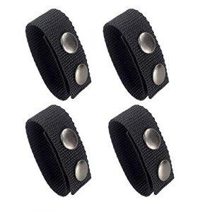 Depring Tactical Belt 1 Depring Tactical Belt Keeper for 2.25 inch Duty Belt 4-Pack Double Snaps Nylon Strap Holder