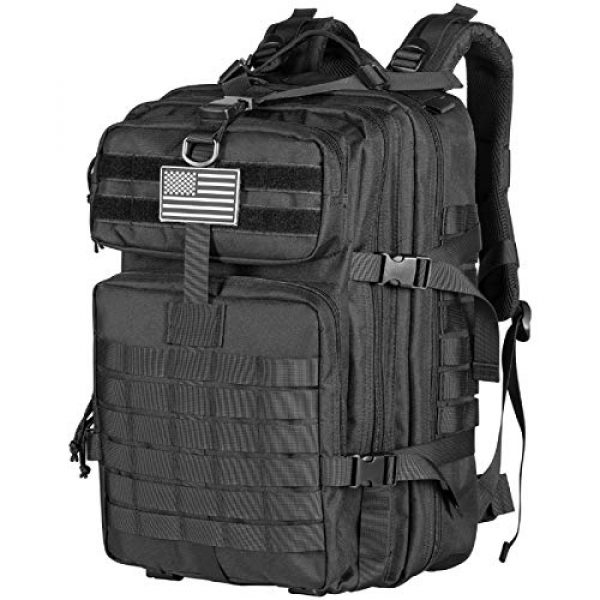 Himal Tactical Backpack 1 Himal Military Tactical Backpack - Large Army 3 Day Assault Pack Molle Bag Rucksack,40L,Black