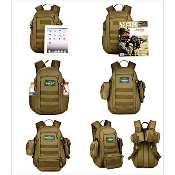 Protector Plus Tactical Backpack 7 12L Mini Daypack Military MOLLE Tactical Backpack Rucksack Gear Assault Pack
