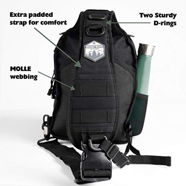 Whiskey Woods Outdoors Tactical Backpack 5 Whiskey Woods Outdoors Military Tactical EDC Sling Bag Molle Shoulder Diaper backpack