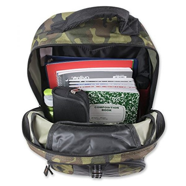 Trailmaker Tactical Backpack 5 Trail maker Tactical Camo Backpack for Boys, Girls, Men, Women for School and Travel (Green Camo)