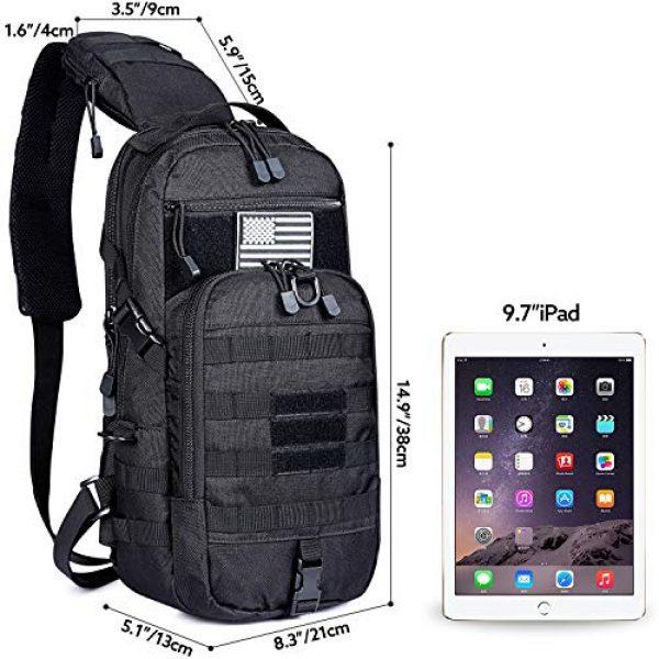 G4Free Tactical Backpack 2 G4Free EDC Bag Tactical Sling Bag Backpack Fishing Tackle Molle Chest Shoulder Assault Pack Rectangular Outdoor Daypack