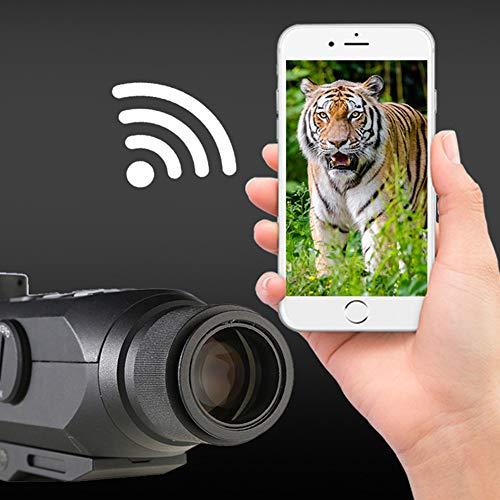 DJym Rifle Scope 5 DJym GPS HD High-Powered Night Vision Monocular, Zoom Digital Video Camera for Outdoor Hunting Rangefinder