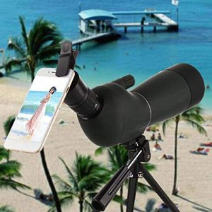 JIAJIAFU Rifle Scope 1 Telescope, Spotting Scope Telescope Camera Phone Single Tube High-Power High-Definition Night Vision 20-60x60 Zoom Spotting Scope Outdoor Outdoors for Beginners and Kids