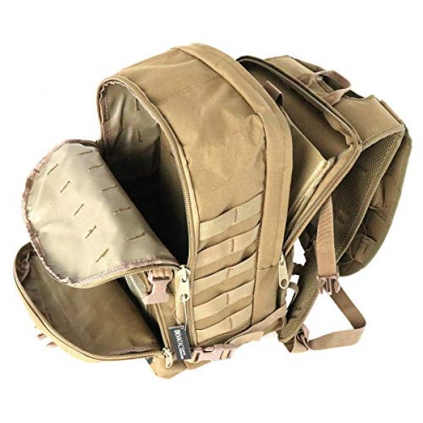 Evatac Tactical Backpack 4 Evatac Tactical Backpack for Military Combat | Large Size Khaki 35L 600D Molle Bug Out Bag Or Every Day Travel Back Pack.