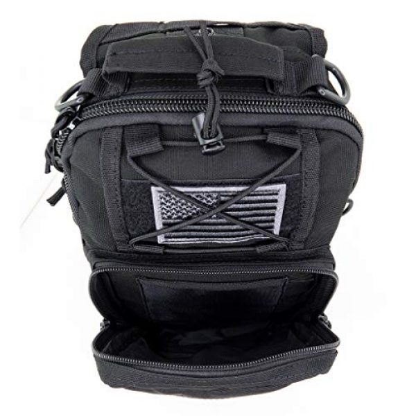 LINE2design Tactical Backpack 5 LINE2design First Aid Sling Backpack - EMS Equipment Emergency Medical Supplies Tactical Range Shoulder Molle Bag - Heavy Duty Sports Outdoor Rescue Pack - Perfect for Camping Hiking Trekking - Black