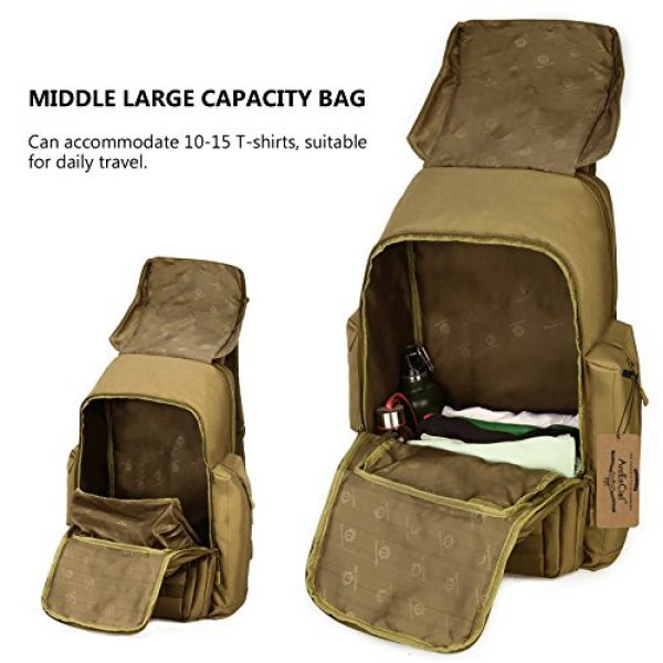 ArcEnCiel Tactical Backpack 6 ArcEnCiel Tactical Backpack Military Army Shoes Bags Daypack Assault Pack Bug Out Bag Molle Rucksack - Rain Cover Included