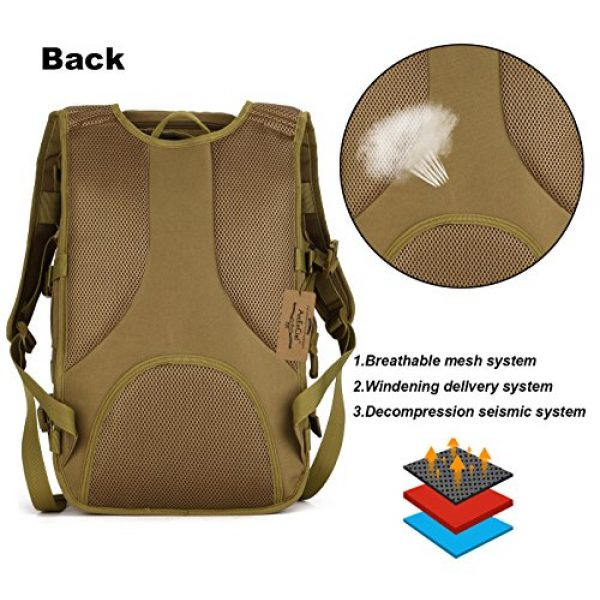 ArcEnCiel Tactical Backpack 4 ArcEnCiel Tactical Backpack Military Army 3 Day Assault Pack - Rain Cover Included