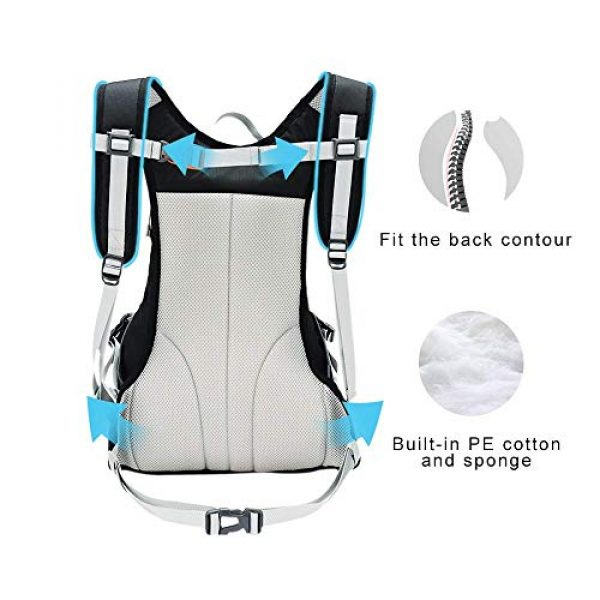 PELLIOT Tactical Backpack 5 PELLIOT Bike Backpack, 20L Waterproof Cycling Bicycle Rucksack, Breathable Lightweight and Wear-Resisting Running Backpack for Hiking Climbing Camping Skiing Trekking