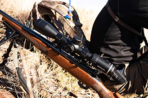 Riton Rifle Scope 3 Riton Optics X7 Conquer 4-32x56, 34mm Tube, Advanced Zero Stop turrets, First Focal Plane, and Illuminated Precision Reticle with Unlimited Lifetime Promise.