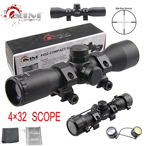 TACFUN Rifle Scope 2 TACFUN - AIM Tactical MIL-DOT Reticle Compact Scope/w Rings
