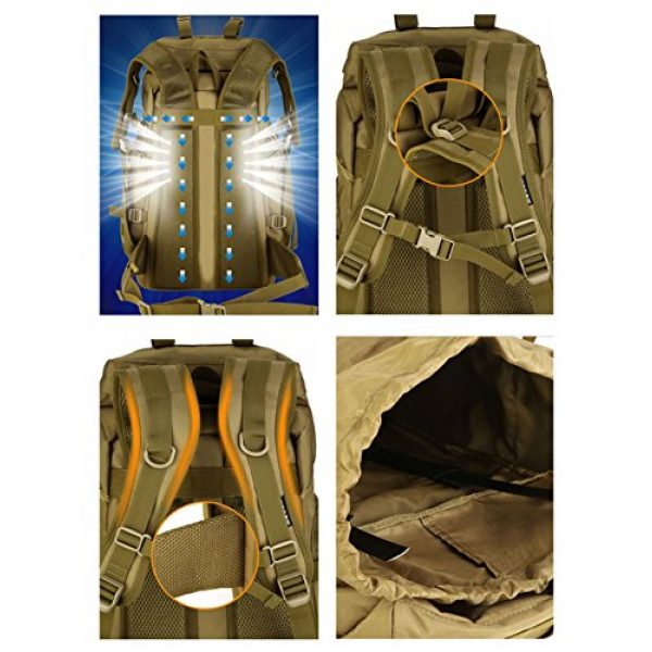 Huntvp Tactical Backpack 6 Huntvp 55L Tactical Military MOLLE Backpack Rucksack