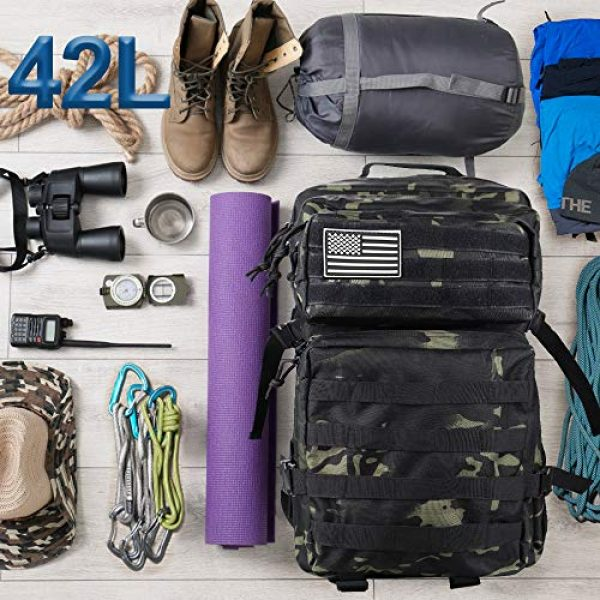 Monoki Tactical Backpack 3 Monoki Military Tactical Backpack, Army 3 Day Assault Pack,42L Molle Bag Rucksack