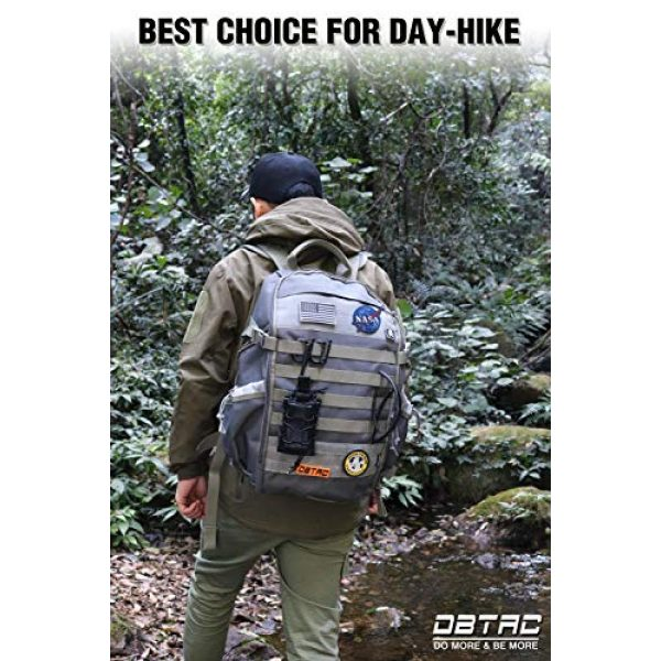 DBTAC Tactical Backpack 2 DBTAC Tactical Backpack Molle Hiking Daypack 25L with Laptop/Hydration Pockets