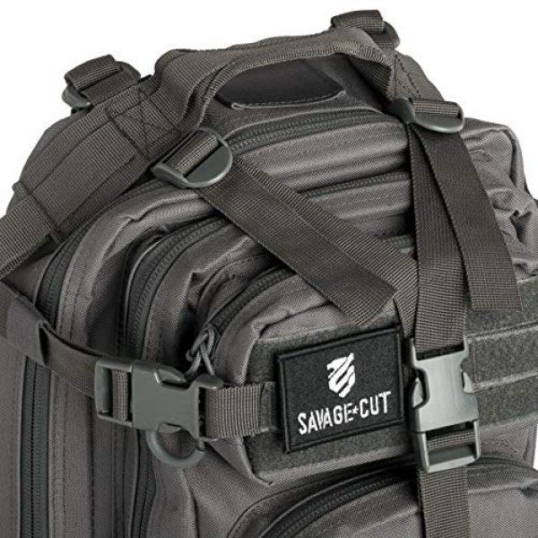 Savage Cut Tactical Backpack 3 Savage Cut Waterproof Tactical Bag - Military Laser Cut, Heavy Duty Survival Backpack (Black)