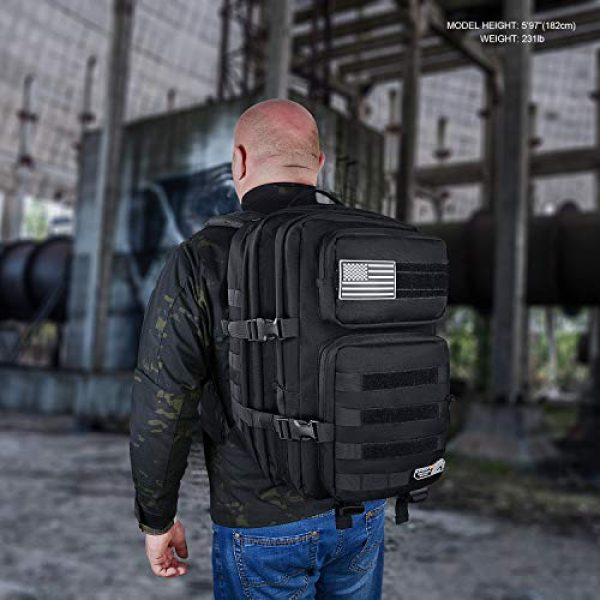LeisonTac Tactical Backpack 6 LeisonTac Enhanced Tactical Backpack with Military ISO Standard