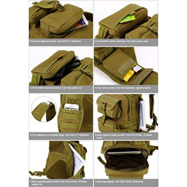 Huntvp Tactical Backpack 4 Huntvp Tactical Military Sling Pack Chest Daypack Molle Backpack Shoulder Bag
