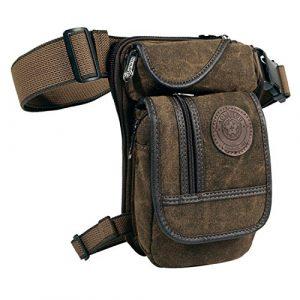 Egoodbest  1 Egoodbest Canvas Tactical Military Waist Pack Pouch Outdoor Drop Leg Bag