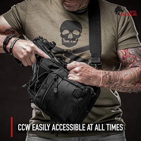 WOLF TACTICAL Tactical Backpack 5 WOLF TACTICAL Compact EDC Sling Bag - Concealed Carry Shoulder Bag for Range, Travel, Hiking, Outdoor Sports