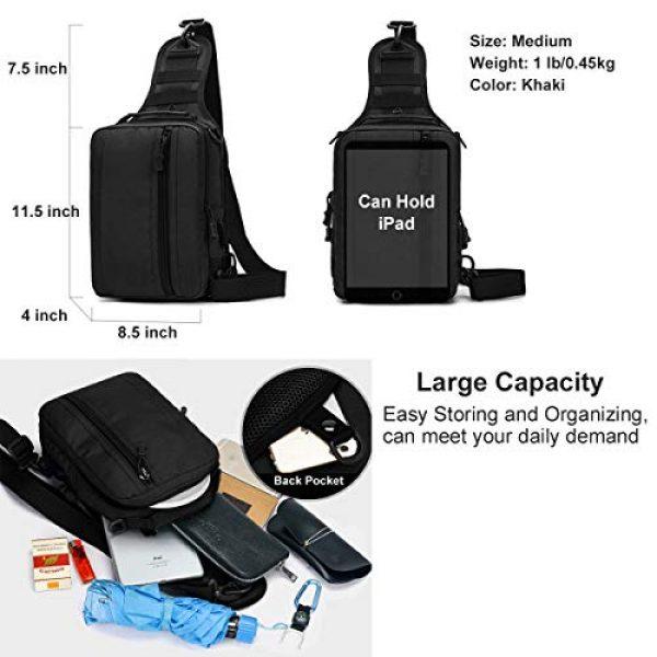 BraveHawk OUTDOORS Tactical Backpack 6 BraveHawk OUTDOORS Sling Shoulder Bag, 800D Military Nylon Multi-Purpose Daypack EDC Crossbody Pack Backpack Handbag