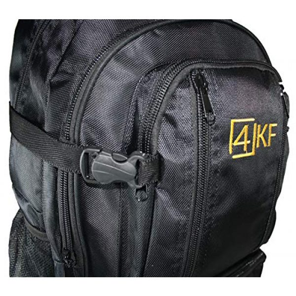 4KF Tactical Backpack 6 Tactical Backpack for Men 4KF Bugout Bag Outdoor Hiking Hunting Backpack Waterproof Survival Gear Military Travel Water Resistant Durable Army Rucksack Assault Pack Black