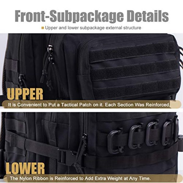 R.SASR Tactical Backpack 6 Upgrade Tactical Military Molle Backpack Army Waterproof Backpack.