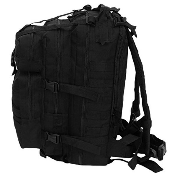 NPUSA Tactical Backpack 5 Mens 18 Inch Molle Hydration Ready Tactical Gear Daypack Backpack + Key Ring Carabiner