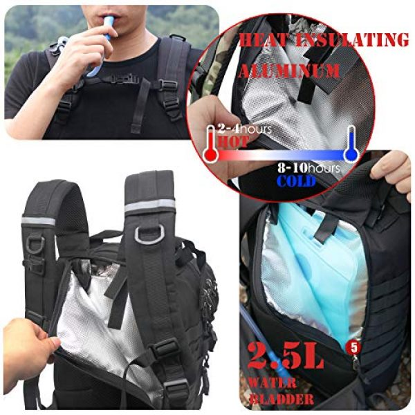 yoson.k Tactical Backpack 4 Tactical Backpack Military Army Molle Bag Black Small School Bookbag for Men Hiking Fishing Outdoor Survival