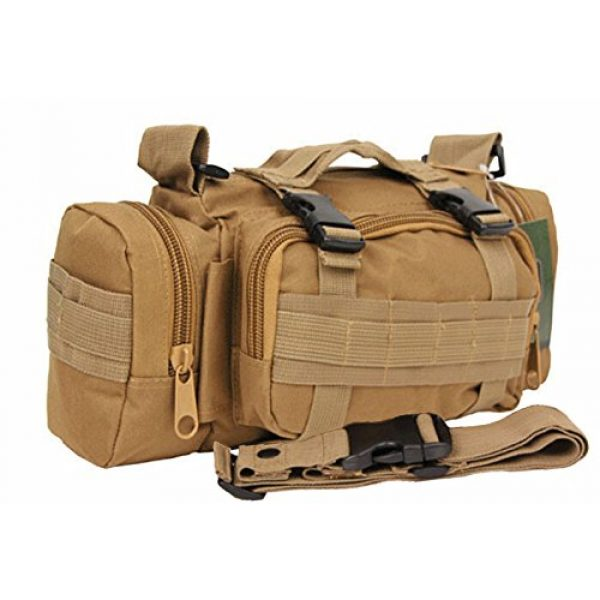 "FIRECLUB Tactical Backpack 1 FIRECLUB TAN Deployment Waist Chest Pack Outdoor Military Duffle Tactical Assault Combined Backpack Rucksack Sport Molle Camping Trekking Messenger Crossbody single Shoulder Bag +6 Key Buckle """