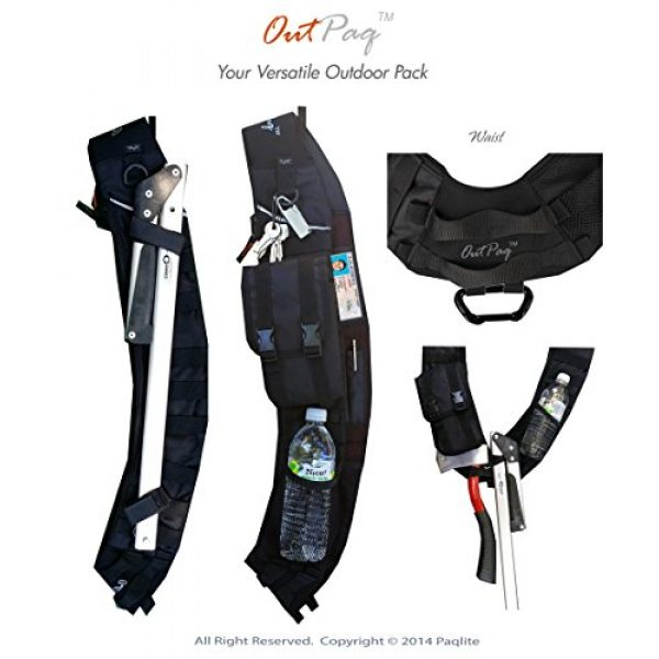 Paqlite Tactical Backpack 2 OutPaq - Your Customizable Personal Pack for Urban, Outdoor or Tactical Use!