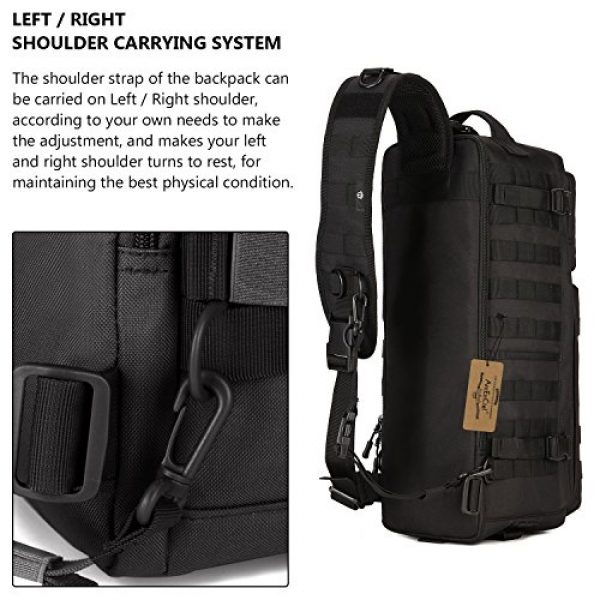 ArcEnCiel Tactical Backpack 4 ArcEnCiel Tactical Sling Pack Military Molle Chest Crossbody Shoulder Bags With Patch