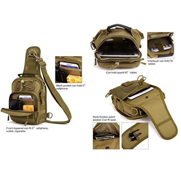 Huntvp Tactical Backpack 4 Huntvp Tactical Military Sling Chest Daypack Backpack for Hunting, Camping and Trekking