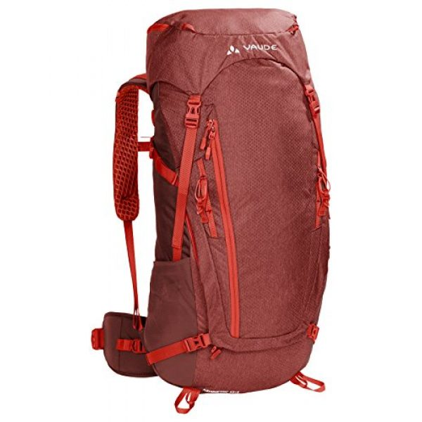 VAUDE Tactical Backpack 1 VAUDE Asymmetric 42+8 Backpack - Lightweight Touring Backpack for Multi-Day Hikes, Trekking and Backpacking - Adjustable Suspension System - 50 Litre Volume